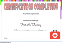 First Aid Training Certificate Template 7