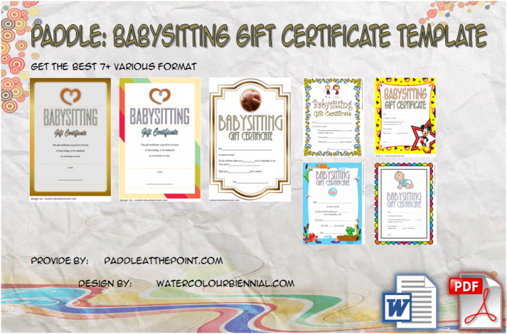 Permalink to FREE Printable Babysitting Gift Certificate: 7+ Concepts