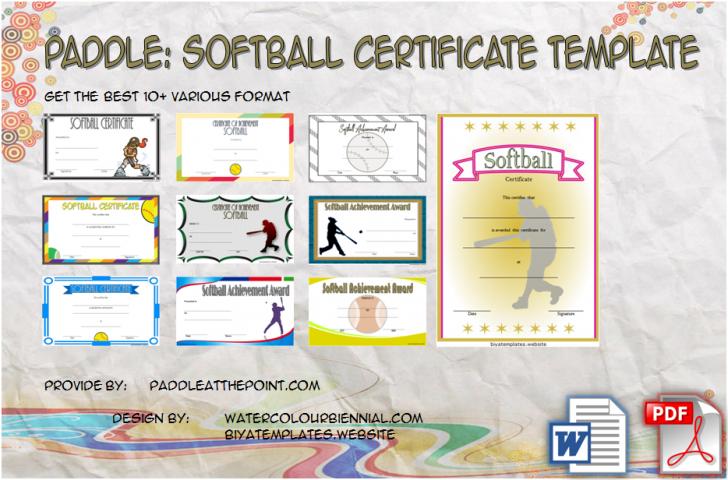 Permalink to 10+ FREE Printable Softball Certificate Templates