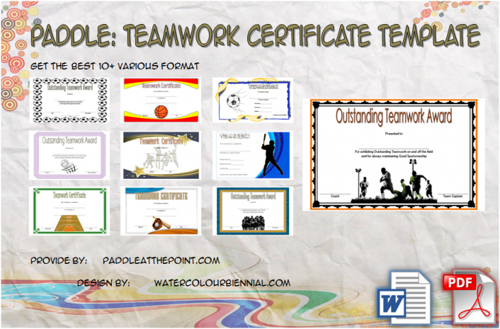 Permalink to Free Teamwork Certificate Templates – 10+ Great Choices