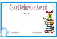 Good Behaviour Award Certificate 5