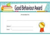 Good Behaviour Award Certificate 6