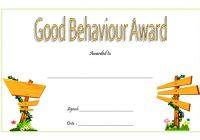 Good Behaviour Award Certificate 7