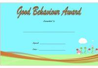 Good Behaviour Award Certificate 8