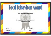 Good Behaviour Certificate Template