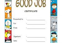 Good Job Certificate Template 5