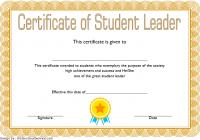Great Student Leadership Certificate Template 1