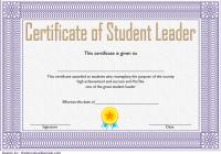 Great Student Leadership Certificate Template 2