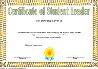 Great Student Leadership Certificate Template 3