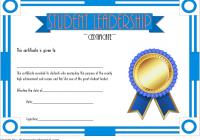 Great Student Leadership Certificate Template 4