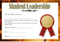 Great Student Leadership Certificate Template 5