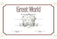 Great Work Certificate Template 1