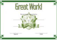 Great Work Certificate Template 2