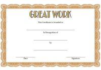 Great Work Certificate Template 5