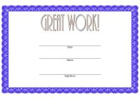 Great Work Certificate Template 6
