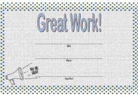 Great Work Certificate Template 7