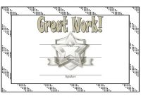 Great Work Certificate Template 8
