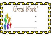 Great Work Certificate Template 9