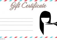 Hair Salon Gift Certificate Template 1