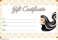 Hair Salon Gift Certificate Template 2