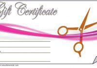Hair Salon Gift Certificate Template 3