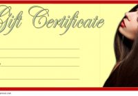 Hair Salon Gift Certificate Template 4