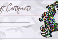 Hair Salon Gift Certificate Template 6