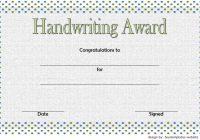 Handwriting Award Certificate Printable 3