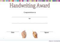 Handwriting Award Certificate Printable
