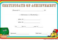 Handwriting Award Certificate Printable 4