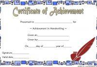 Handwriting Award Certificate Printable 5