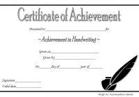 Handwriting Award Certificate Printable 6