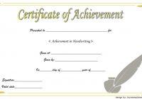 Handwriting Award Certificate Printable 7