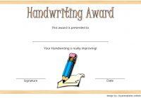Handwriting Award Certificate Printable 8