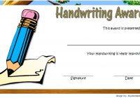 Handwriting Award Certificate Printable 9