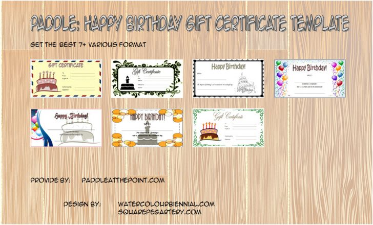 Permalink to Happy Birthday Gift Certificate Free: 7+ Best Template Ideas