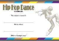 Hip hop Certificate Template 1