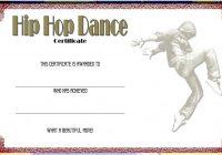 Hip hop Certificate Template