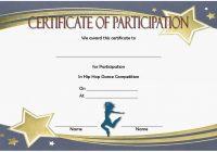 Hip hop Certificate Template 5