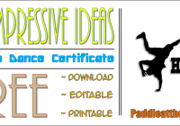 Hip hop Certificate Templates FREE for 2020 Dance Competition by Paddle