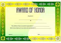 Honor Award Certificate Template 2