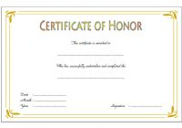 Honor Award Certificate Template 3