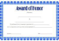 Honor Award Certificate Template