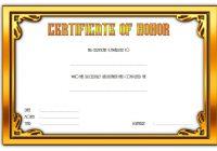 Honor Award Certificate Template 4