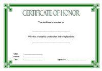 Honor Award Certificate Template 5