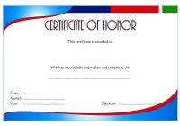 Honor Award Certificate Template 6