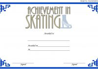 Ice Skating Certificate Template 2