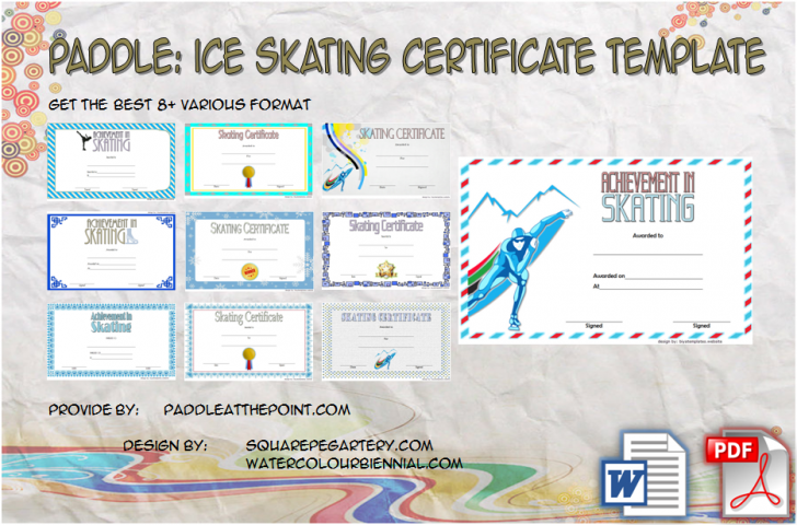 Permalink to Ice Skating Certificates – 10+ Frozen Template Designs