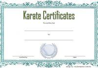 Karate Certificate Template 1
