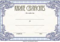 Karate Certificate Template 2